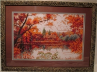 """Купить в Пятигорске картину из вышивки, набор для вышивания """"Отражение осени"""", производитель """"Палитра"""""""
