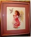 """Картина из вышивки """"Благослови"""", производитель """"Алиса"""", фото 1, двойное паспарту, под стекло, оформлена в багет"""