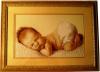 """картина ручной работы из набора для вышивания """"Соня"""", багет, стекло"""