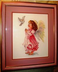 "Картина из вышивки ""Благослови"", производитель ""Алиса"", фото 2, оформлена в багет под стекло"